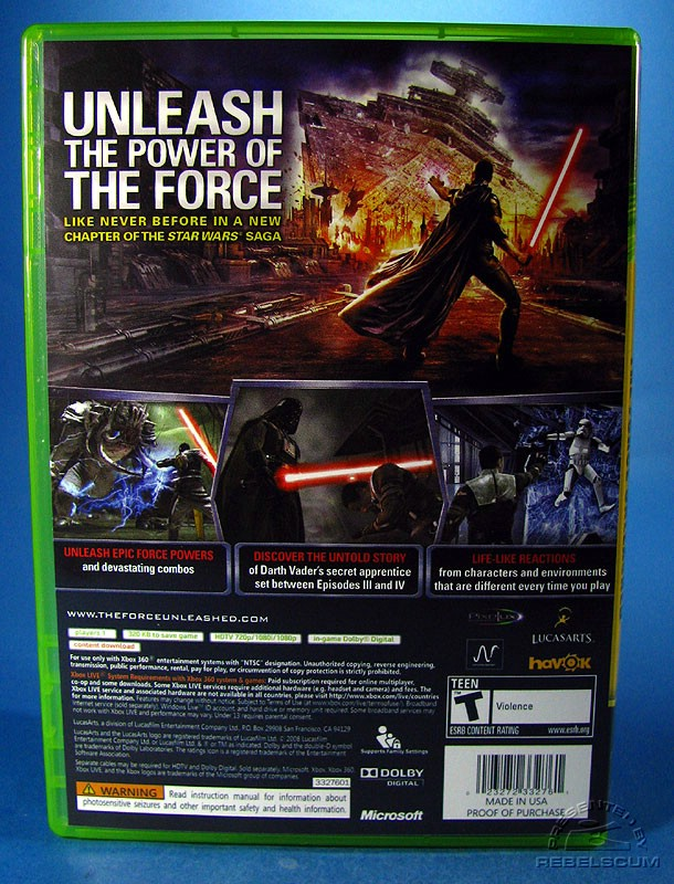 Xbox 360 Version Front Cover