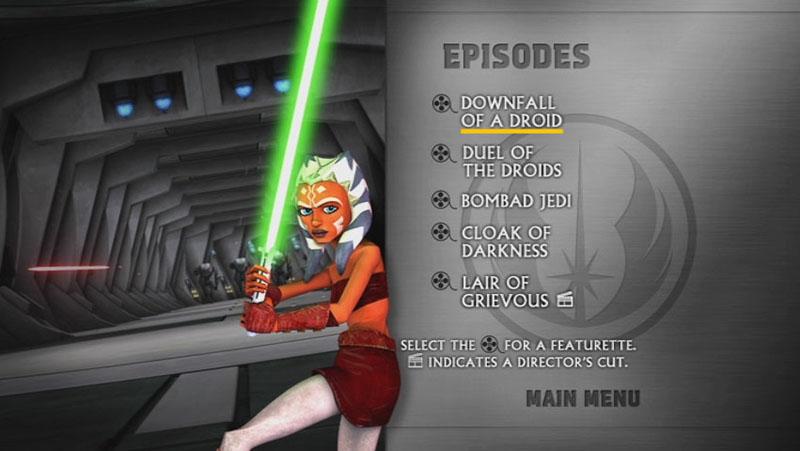 The Clone Wars Season One - Disc 2 - Episode Screen