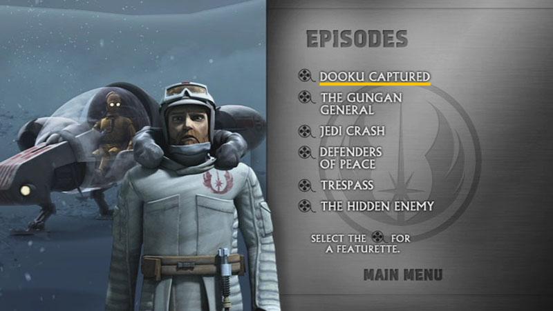 The Clone Wars Season One - Disc 3 - Episode Screen