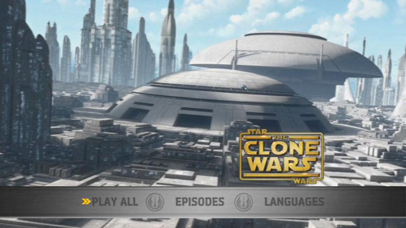 The Clone Wars Season One - Disc 3 - Main Screen