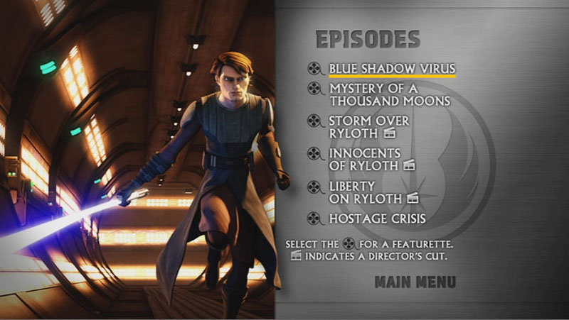 The Clone Wars Season One - Disc 4 - Episode Screen
