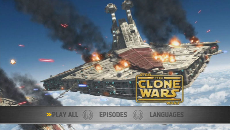 The Clone Wars Season One - Disc 4 - Main Screen