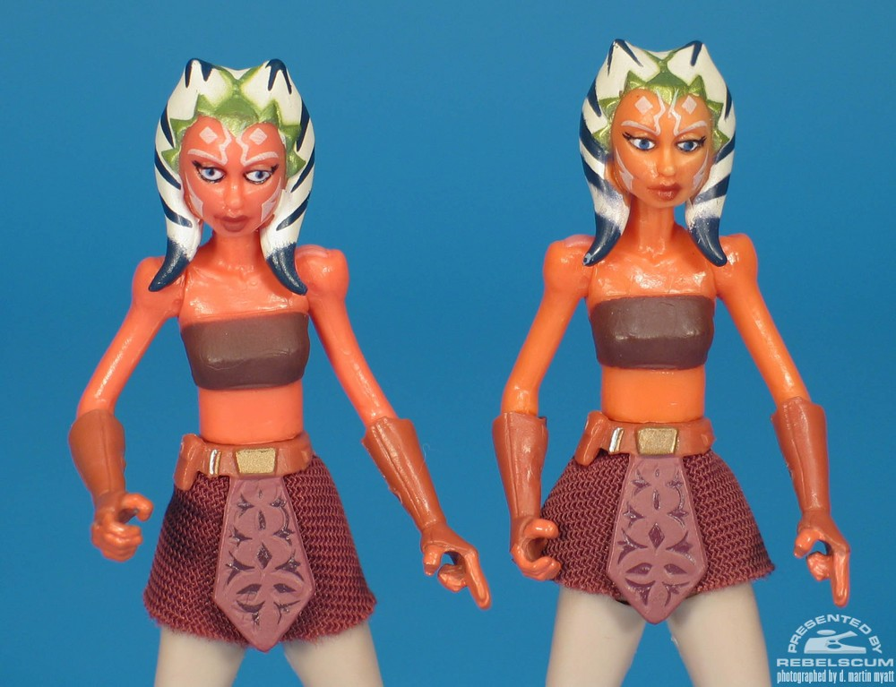 Left to Right: DVD Two Pack Ahsoka, Single Carded Ahsoka