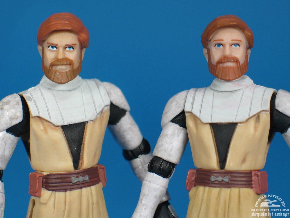 Left to Right: DVD Two Pack Obi-Wan, Single Carded Obi-Wan