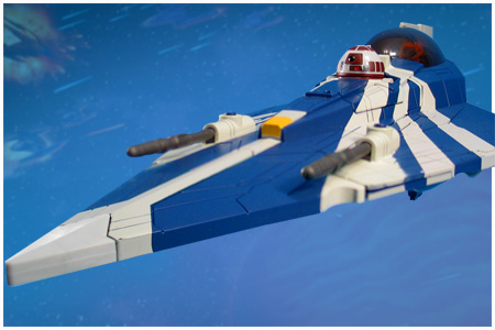 2010 Hasbro Star Wars The Clone Wars Plo Koon/'s Jedi Starfighter vehicle