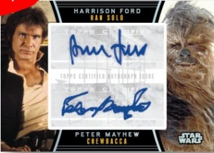 Galactic Files - Series 2 Harrison Ford / Peter Mayhew Dual Autograph Card