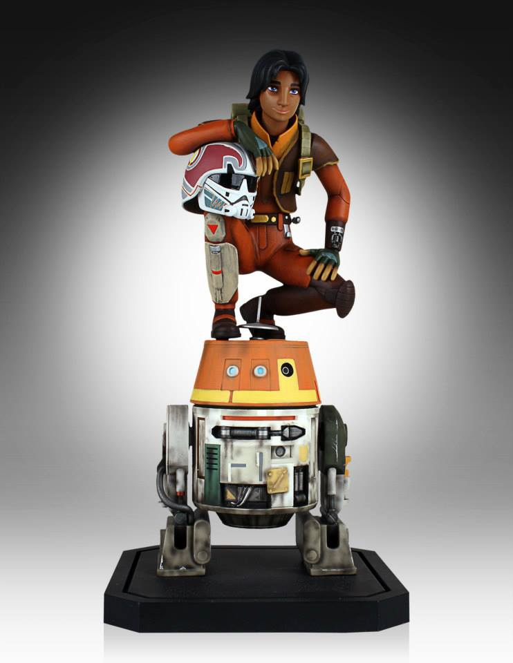 Gentle giant ltd star wars rebels ezra chopper maquette 002