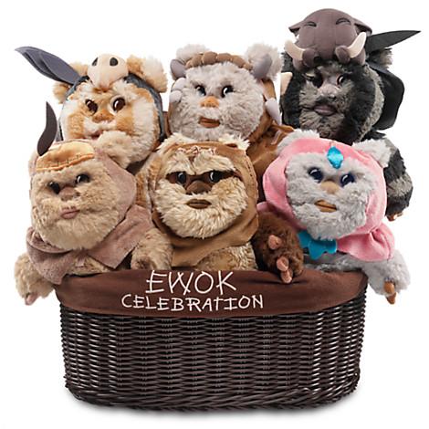 New Ewok plush toys debuted at Celebration Disney-Parks-Exclusive-Ewok-Plush-Celebration-Basket