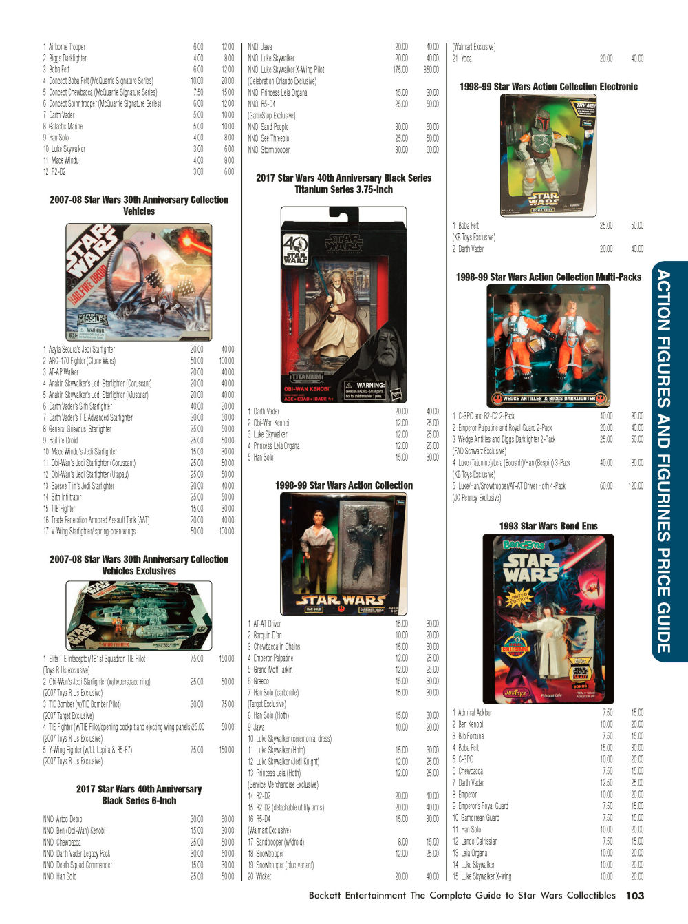 Star wars toy collectors price guide.