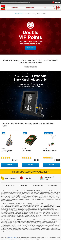 Rebelscum com: LEGO: Star Wars VIP Card Holder Goes Live