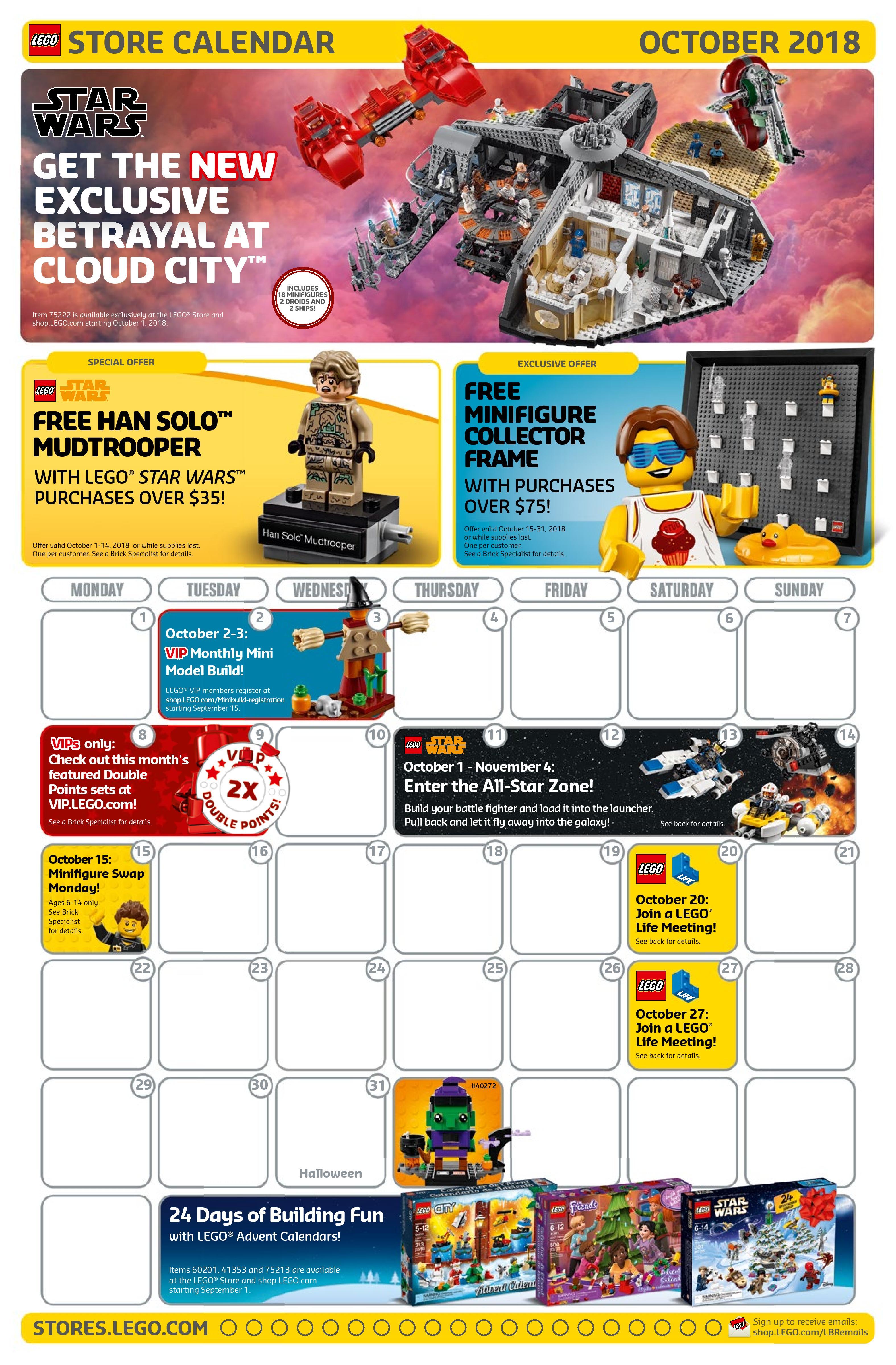 Lego October 2022 Calendar.Rebelscum Com Lego October Store Calendar Revealed