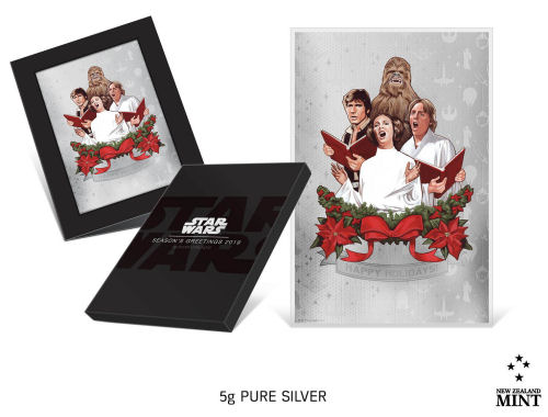 Star Wars Season's Greetings silver coin from New Zealand Mint