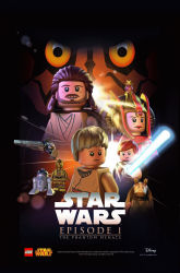 Star Wars Celebration 2015 exclusive LEGO The Phantom Menace poster