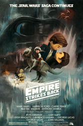 Star Wars: The Empire Strikes Back theatrical poster by macroLEGOuniverse