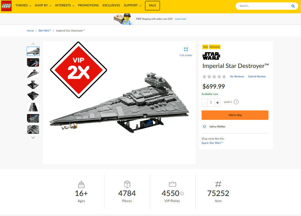 LEGO Star Wars 75252 Imperial Star Destroyer screenshot