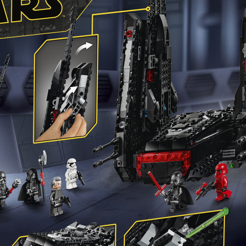 75256 Kylo Ren's Shuttle box rear