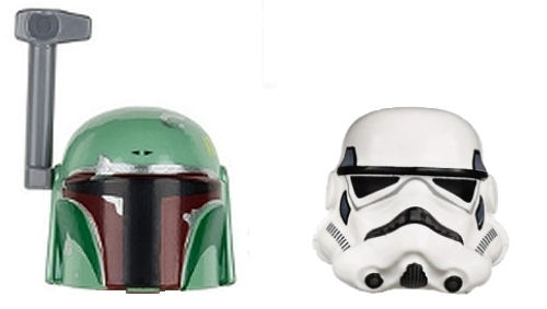LEGO Star Wars Stormtrooper Boba Fett Busts