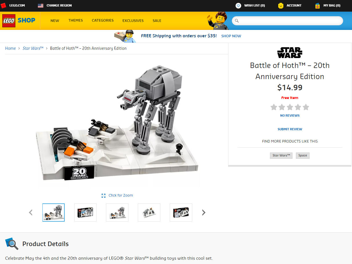 Free LEGO 40333 Battle of Hoth set