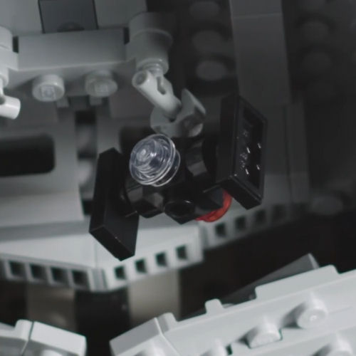 75252 UCS Imperial Star Destroyer - TIE Fighter closeup