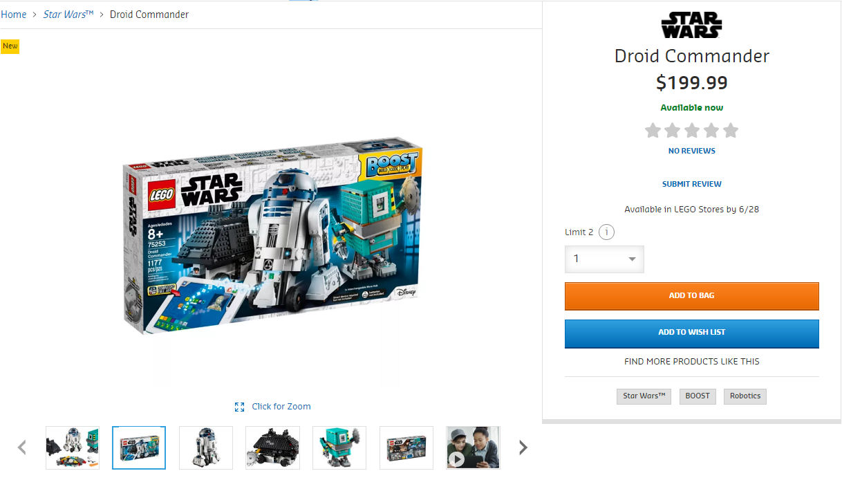 Rebelscum com: LEGO: 75253 Droid Commander Released Early
