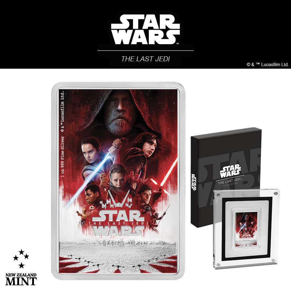 Star Wars:The Last Jedi coin from New Zealand Mint