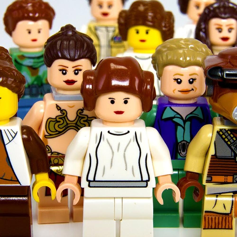 10123 Lego Princess Leia Padme HAIR with Braid Star Wars  Brown