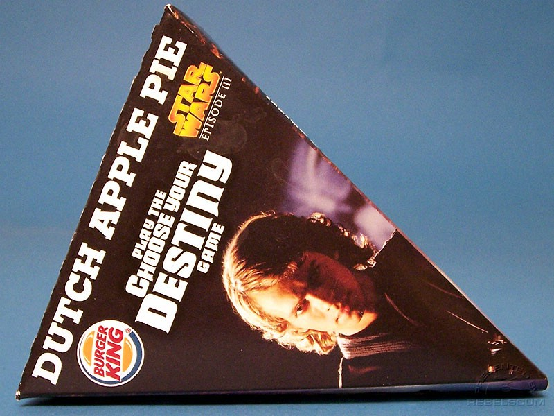 Burger King Star Wars Dutch Apple Pie Box