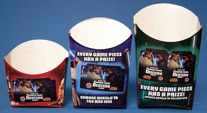 Burger King Star Wars French Fries Boxes