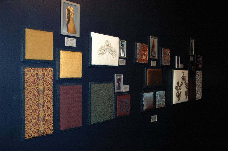 The Touching Wall, fabric samples