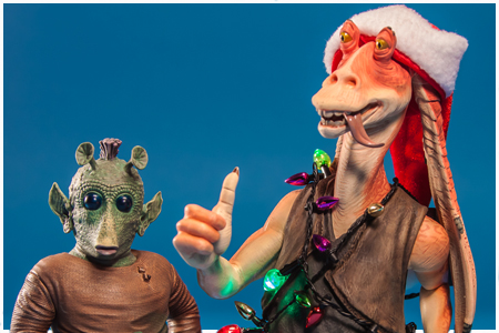 Jar Jar Binks with W. Wald - 2012 Holiday Deluxe Mini Bust Set