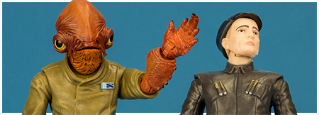 Admiral Ackbar and First Order Officer - The Black Series 6-inch action figure collection from Hasbro
