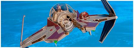 Star Wars ROTS Obi-Wan/'s Jedi Starfighter Hasbro 2005