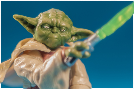 Yoda - Lightsaber Action