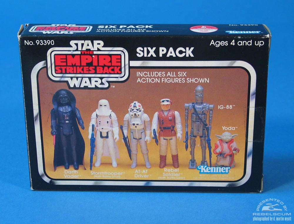 The Empire Strikes Back Six Pack with yellow background