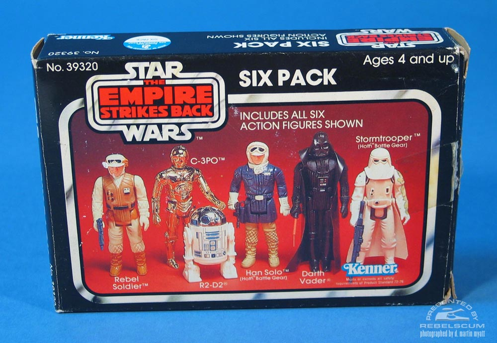 The Empire Strikes Back Six Pack with red background