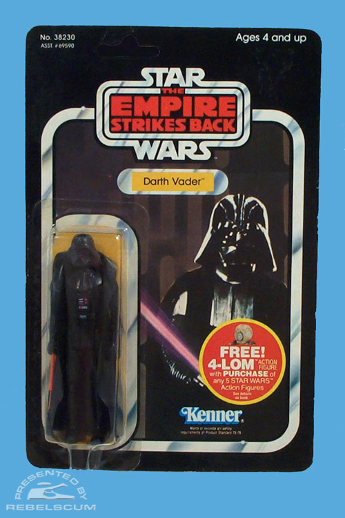 47 Back  The Empire Strikes Back 4-LOM Mail Away Offer Carded Figure