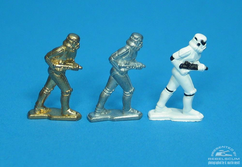 Unpainted Gold and Unpainted Standard Stormtrooper (Stalking)