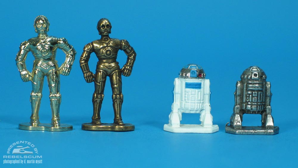 From Left To Right- Real See-Threepio, Fake See-Threepio, Real Artoo-Detoo, Fake Artoo-Detoo