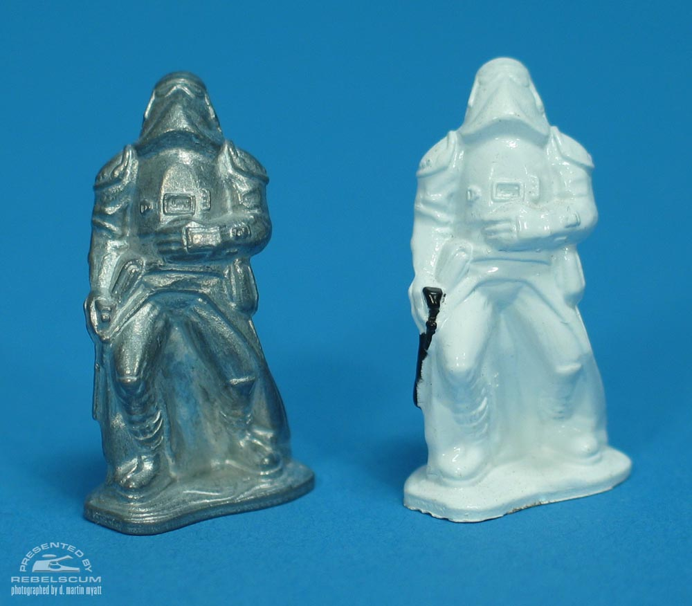 Unpainted Hoth Imperial Stormtrooper from the Hoth Generator Attack Action Playset