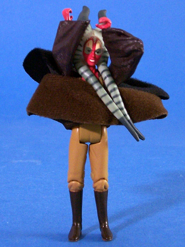 Oops! Shaak Ti's waist is BACKWARDS!