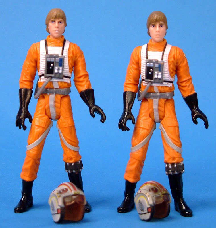 POTJ Luke Skywalker (left) | OTC Luke Skywalker (right)