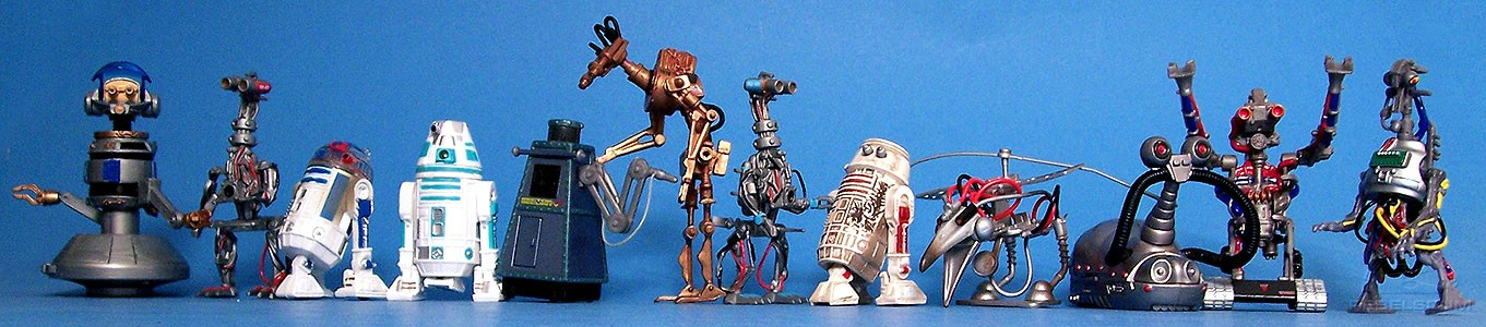 The Droids of STAR TOURS: RX-24 (Captain REX) | G2-4T | R3-D3 | R4-M9 | DL-X2 | WEG-1618 | G2-9T | R5-D3 | SK-Z38 | MSE-1T | G3-5LE | 3T-RNE