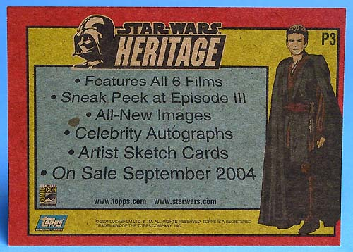 Topps Heritage Promo Card (Comic-Con Giveaway)