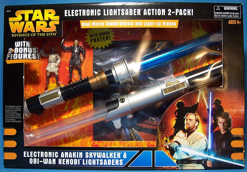 Electronic Lightsaber Action 2-Pack!