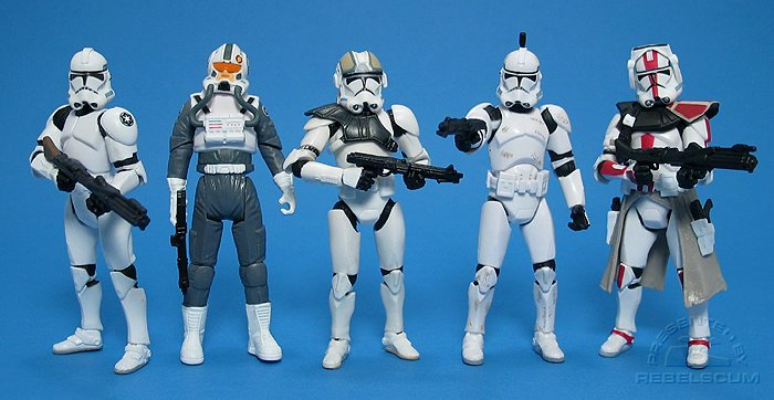 Clone Trooper 6 | Clone Pilot 34 | AT-TE Tank Gunner 38 | Clone Trooper 41 | Clone Commander 33