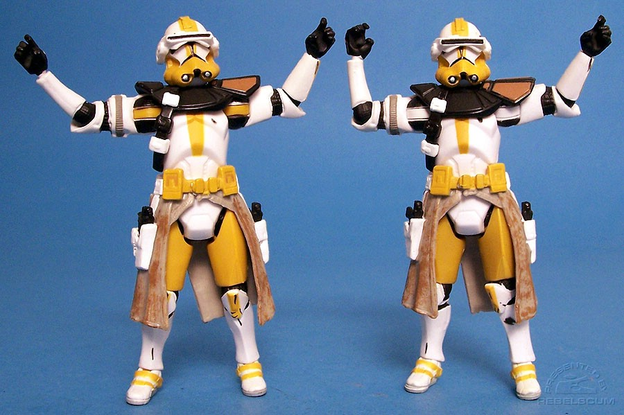 Commander Bly with Yellow and White shoulder and ankle rings