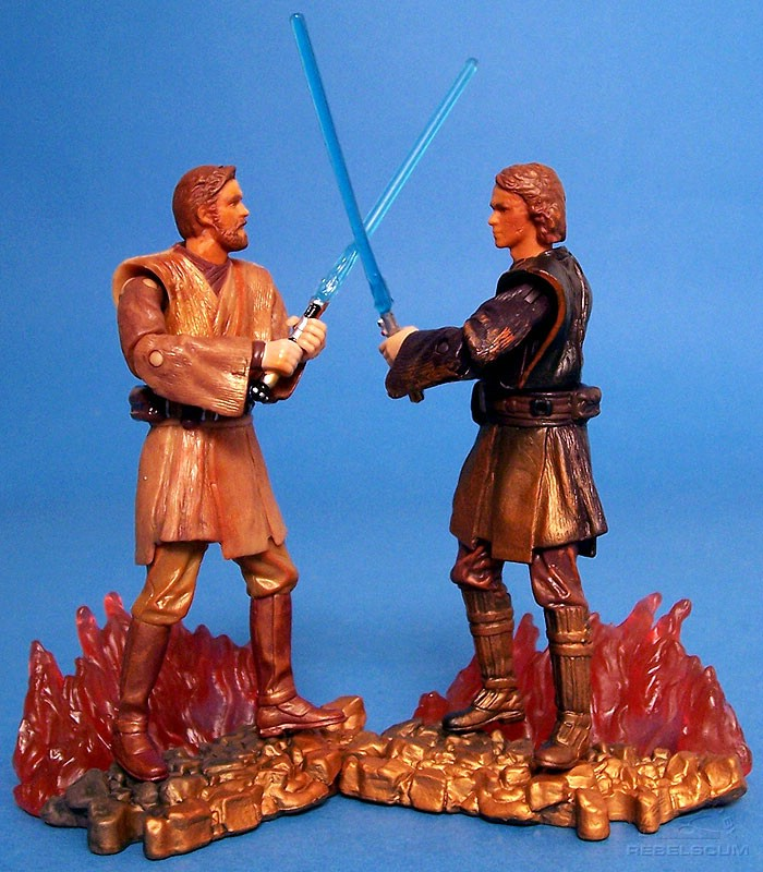 Duel at Mustafar with Darth Vader