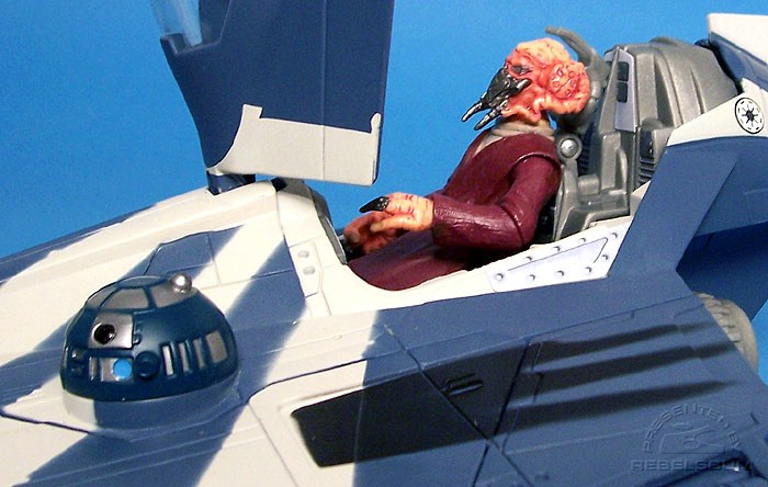 Plo Koon (not included) fits inside cockpit