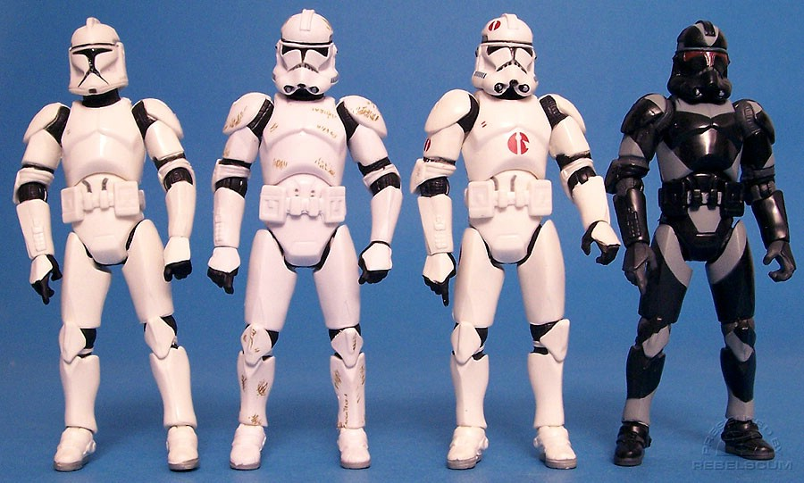 Clone Wars Clone Trooper | ROTS Clone Trooper III-41 | Neyo's Clone Trooper | Utapau Shadow Trooper