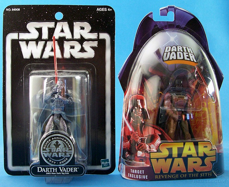 Silver Saga Edition 2002 New York Toy Fair Darth Vader | ROTS Darth Vader (Lava Reflection)